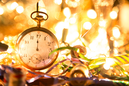Time「New Year's Eve holiday party, pocket watch, clock at midnight.」:スマホ壁紙(18)