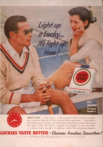Advertisement「1955 Lucky Strike Advertisement」:写真・画像(8)[壁紙.com]