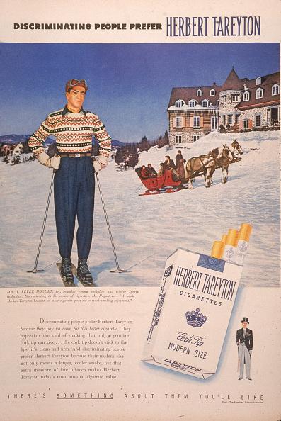 Ski Resort「1950 Herbert Tareyton Cigarette Ad」:写真・画像(15)[壁紙.com]