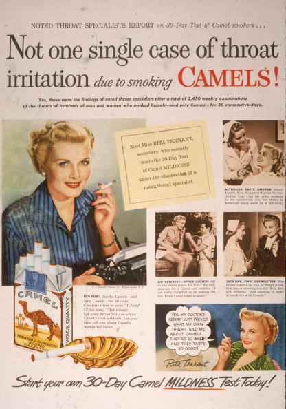 Advertisement「1950 Camel Cigarette Ad」:写真・画像(11)[壁紙.com]
