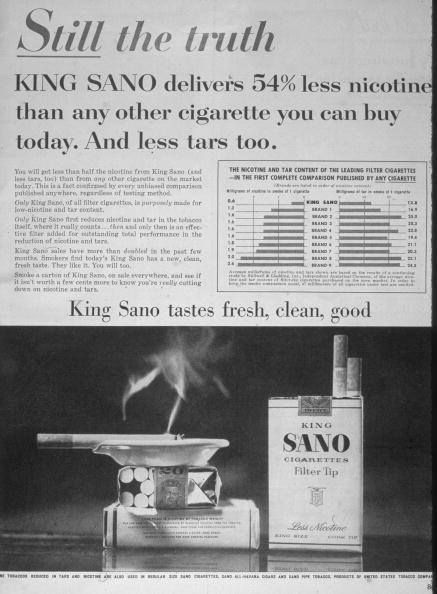 No People「1958 King Sano Cigarette Advertisement」:写真・画像(13)[壁紙.com]