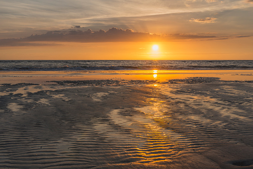 St「Germany, St Peter-Ording, sunset above the sea」:スマホ壁紙(15)