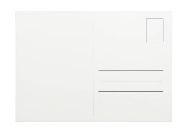 Empty postcard on white background:スマホ壁紙(壁紙.com)