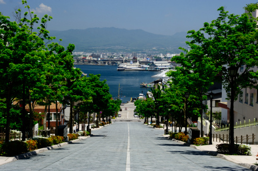 Hokkaido「Hachiman-zaka Slope and Hakodate Port, Hakodate, Hokkaido, Japan」:スマホ壁紙(19)