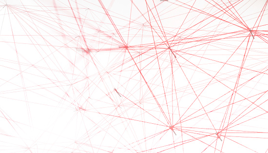 Pattern「Networking, red threads on white background」:スマホ壁紙(18)