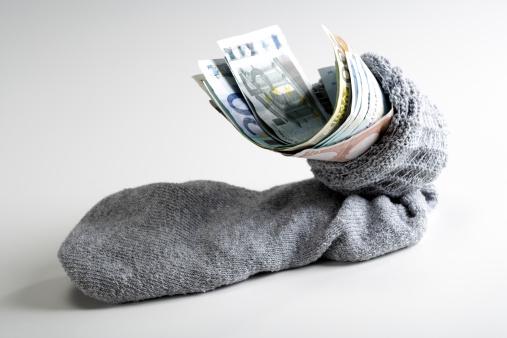 保護「Euro notes in stocking, close-up」:スマホ壁紙(3)