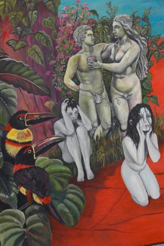 エデンの園「Fantasy painting depicting Garden of Eden」:スマホ壁紙(8)