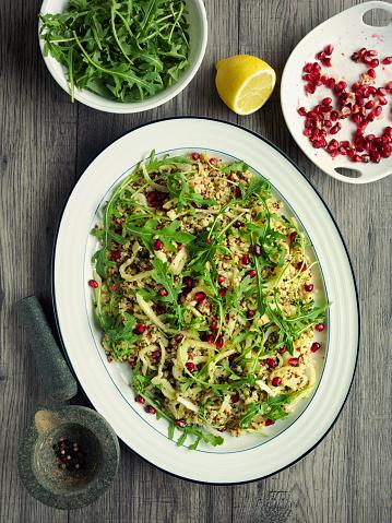 Arugula「Healthy burghul quinoa and fennel salad」:スマホ壁紙(0)