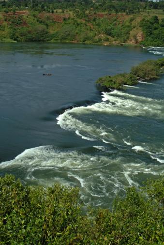 Lake Victoria「Uganda, Jinja, Nile river, boat fishing」:スマホ壁紙(5)