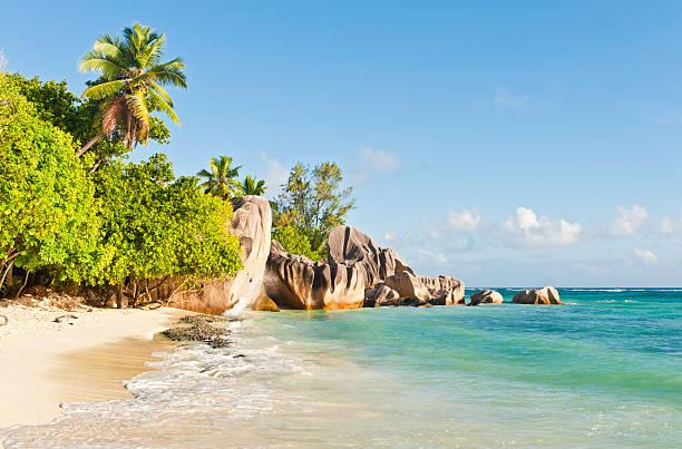 Seychelles beautiful tropical island beach Anse Source d'Argent La Digue:スマホ壁紙(壁紙.com)