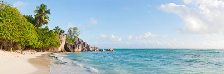 Frond「Seychelles Anse Source d'Argent idyllic tropical island beach palm trees」:スマホ壁紙(14)
