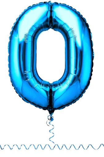 Zero「Blue balloon in the shape of a number zero」:スマホ壁紙(9)