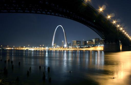 St「Eads Bridge St. Louis Arch at Night」:スマホ壁紙(2)