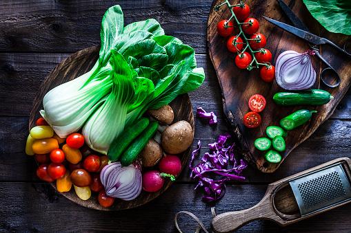 Bok Choy「Fresh ingredients for preparing healthy salad」:スマホ壁紙(16)