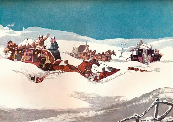雪の吹きだまり「The Holyhead and Chester Mails', 1905. Artist: Robert Havell」:写真・画像(18)[壁紙.com]