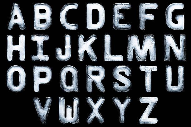 The A-Z alphabet created from ice:スマホ壁紙(壁紙.com)