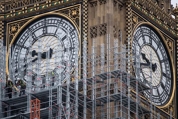 Scaffolding「Work Continues On London's Elizabeth Tower」:写真・画像(10)[壁紙.com]
