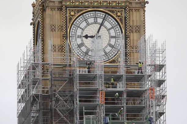 Scaffolding「Work Continues On London's Elizabeth Tower」:写真・画像(12)[壁紙.com]