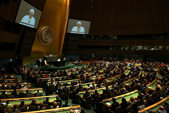 United Nations Building「Pope Benedict XVI Visits The United Nations」:写真・画像(19)[壁紙.com]