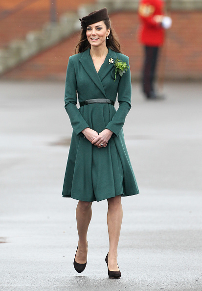 Coat - Garment「The Duchess Of Cambridge Visits The Irish Guards On Their St Patrick's Day Parade」:写真・画像(17)[壁紙.com]
