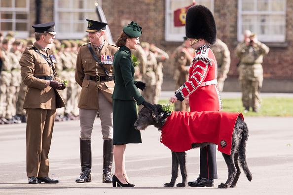 歩兵「The Duke And Duchess Of Cambridge Attend The Irish Guards St Patrick's Day Parade」:写真・画像(15)[壁紙.com]