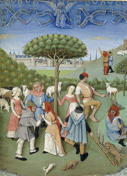 Medieval「Annunciation To The Shepherds: Country Dance From Heures De Charles Dangoulême」:写真・画像(9)[壁紙.com]