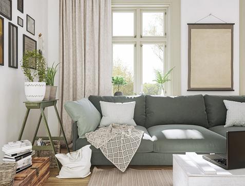 Curtain「Sunlight Domestic Living Room」:スマホ壁紙(1)