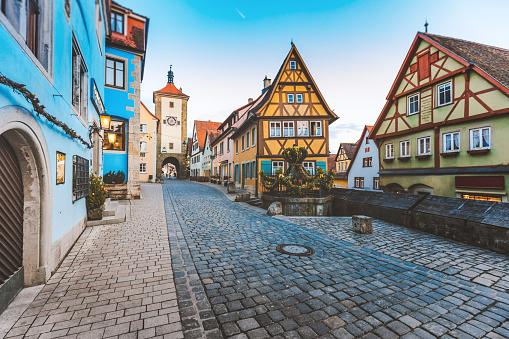 Germany「Old Town of Rothenburg ob der Tauber, Germany」:スマホ壁紙(15)