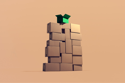 Responsible Business「A large pile of cardboard boxes stacked on top of each other」:スマホ壁紙(9)
