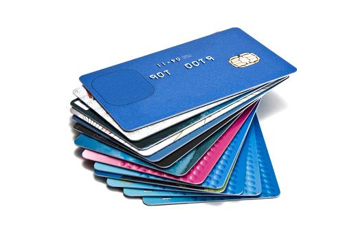 Credit Card「Large pile of old credit cards」:スマホ壁紙(4)