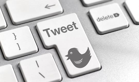 Gray Background「Tweet button on keyboard」:スマホ壁紙(3)