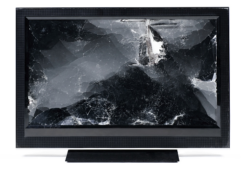 Rectangle「Smashed up flat screen HDTV.」:スマホ壁紙(13)
