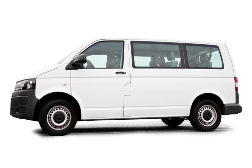 Public Transportation「Isolated white Van / Transporter ready for branding」:スマホ壁紙(19)