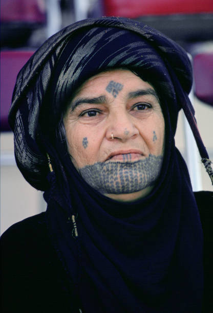 Woman with Traditional Markings, Qatar:ニュース(壁紙.com)