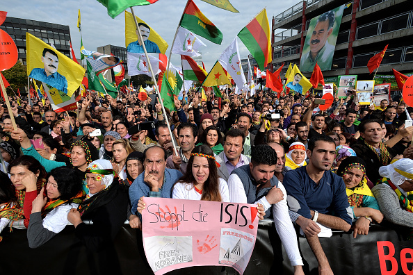 Ayn al-Arab「Thousands Of Kurds Protest IS Terror」:写真・画像(16)[壁紙.com]
