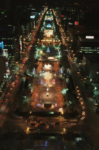 雪まつり「Japan, Hokkaido, Sapporo, Odori Park, Snow Festival, night」:スマホ壁紙(6)