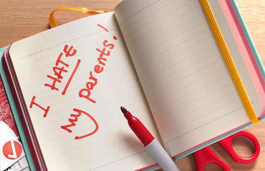 Teenager「Teenagers notebook I hate my parents」:スマホ壁紙(3)