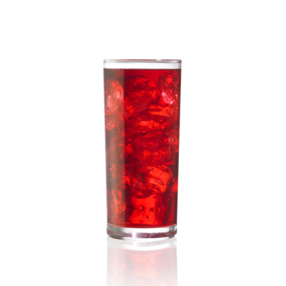 Cranberry Juice「Cold Juice (Isolated on White)」:スマホ壁紙(1)