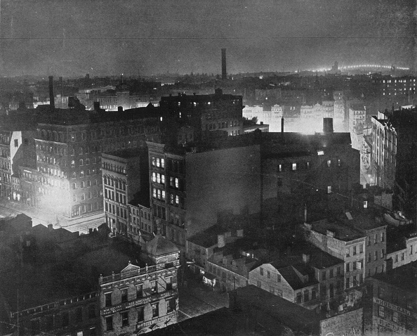 Cityscape「A View Of New York At Night 1915」:写真・画像(2)[壁紙.com]