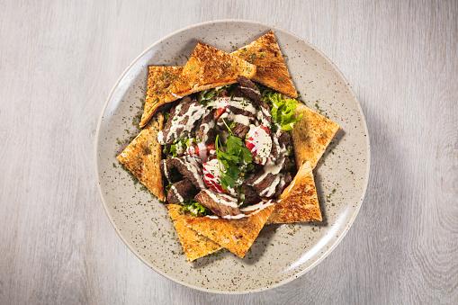 Griddle「Delicious beef steak salad」:スマホ壁紙(1)