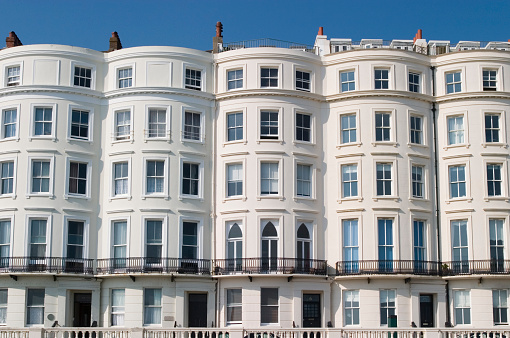 Brighton - England「Regency terraced building.」:スマホ壁紙(11)