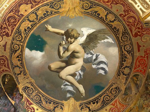 Angel「Floating Putto. Ceiling Painting. Hermesvilla. Vienna. 1885. Oil And Gold-Bronze On Stuco By Gustav Klimt; Franz Matsch And Ernst Klimt.」:写真・画像(11)[壁紙.com]
