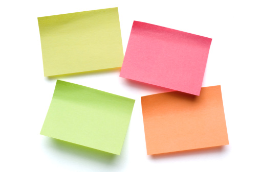 Adhesive Note「Four Post-it Notes on white」:スマホ壁紙(7)
