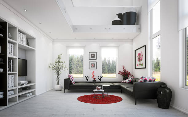 Luxury Two-Level Living Room:スマホ壁紙(壁紙.com)