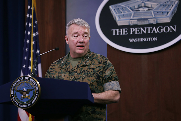 The Pentagon「US Central Command Gen. McKenzie Briefs Media On Response To Rocket Attack In Iraq」:写真・画像(9)[壁紙.com]