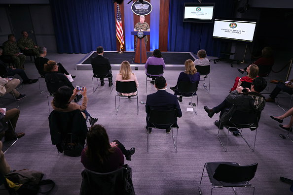 United States Department of Defense「US Central Command Gen. McKenzie Briefs Media On Response To Rocket Attack In Iraq」:写真・画像(2)[壁紙.com]