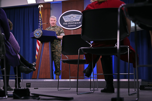 Department Of Defense「US Central Command Gen. McKenzie Briefs Media On Response To Rocket Attack In Iraq」:写真・画像(4)[壁紙.com]
