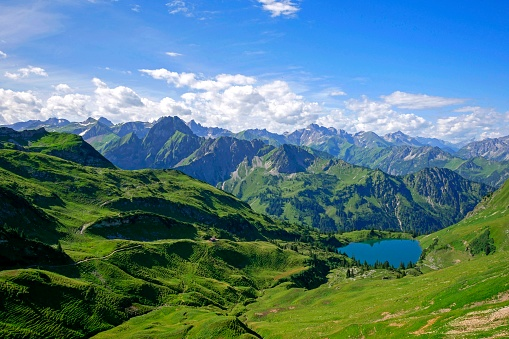 European Culture「Lake Seealp at Nebelhorn, Allgäu, Bavaria」:スマホ壁紙(17)