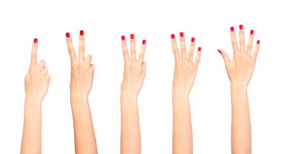 五つ「女性手カウント」:スマホ壁紙(9)