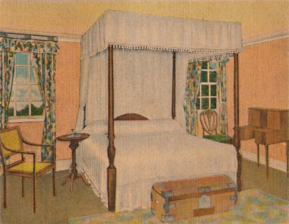 Four-Poster Bed「General Washingtons Bedroom 1」:写真・画像(12)[壁紙.com]